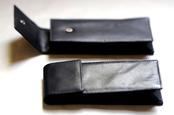 Beautiful quality BLACK LEATHER CILICE CASE FITS All 1mm HALF and FULL LEG Cilice -0