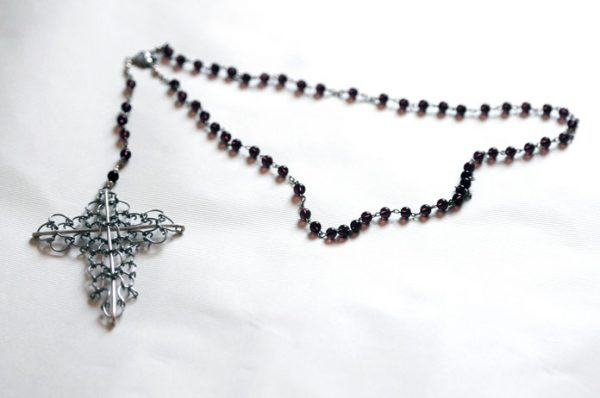 "Hand made ""Rosary Cilice"", length including Cross approximately 24 inch-44"