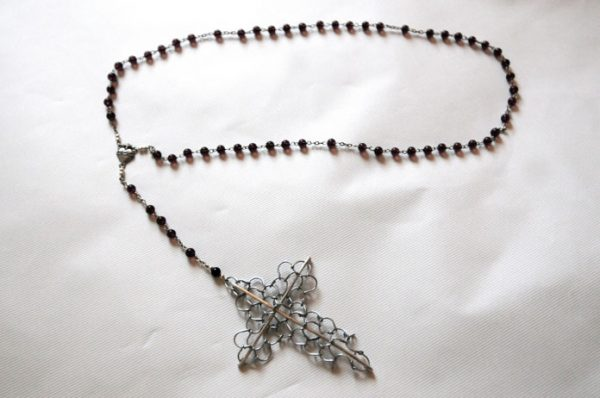 "Hand made ""Rosary Cilice"", length including Cross approximately 24 inch-46"