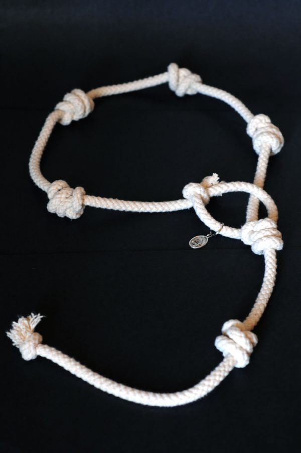 Authentic Cord of St Joseph made of cotton rope with medallion -92