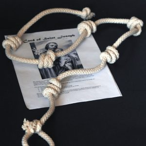 Authentic Cord of St Joseph made of cotton rope with medallion -0
