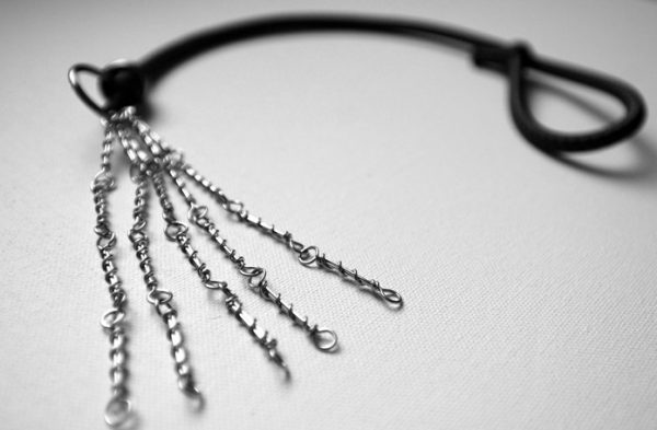 Metal and elasticised cord discipline made by Italian Nuns-0