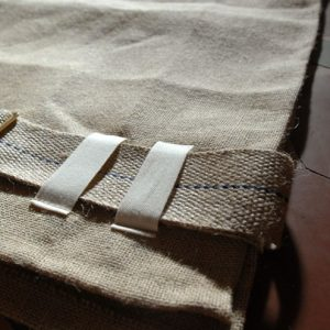 A traditional sack-cloth hairshirt with belt and metal buckle-0