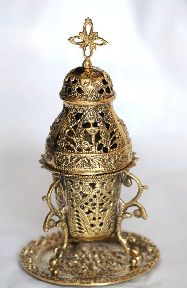 Beautiful quality 24cm high traditional Bronze Incense burner-0