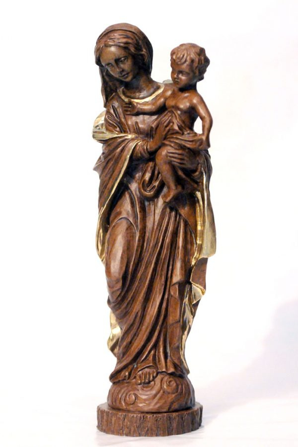 12 inch Mother and Child resin statue-0