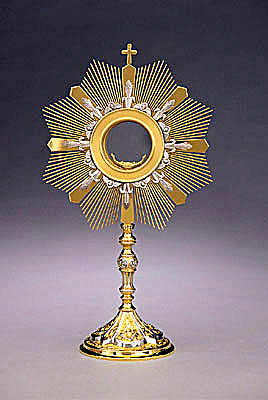 Monstrance/Gilt-Silver Finish -0
