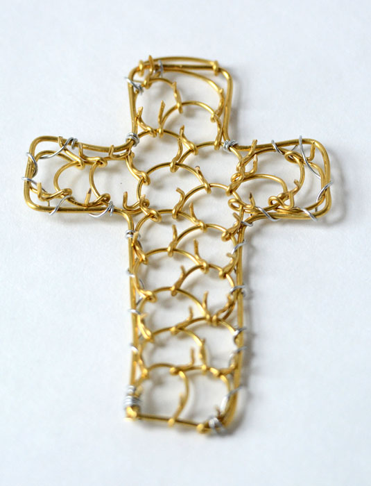 Cross cilice made by Italian Nuns-125
