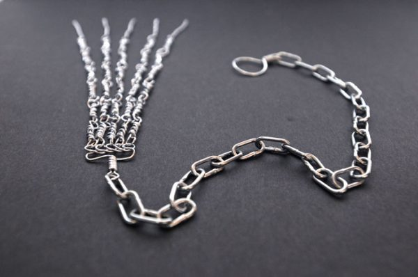 Chain metal Discipline hand made by Italian Nuns-0