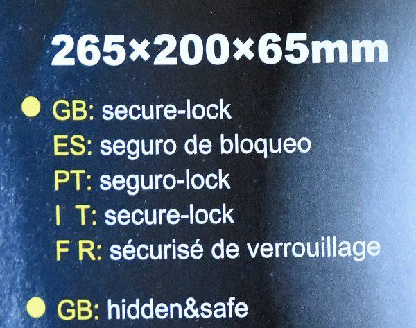 Bible Secret Lockable Book Box-186