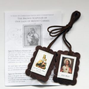 Brown Scapular with Information Leaflet-0