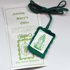 Green Scapular with leaflet-0
