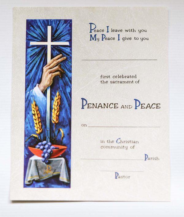 Penance Certificates -0