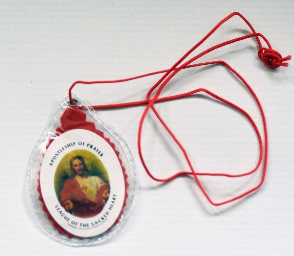 RED Sacred Heart Scapular-0